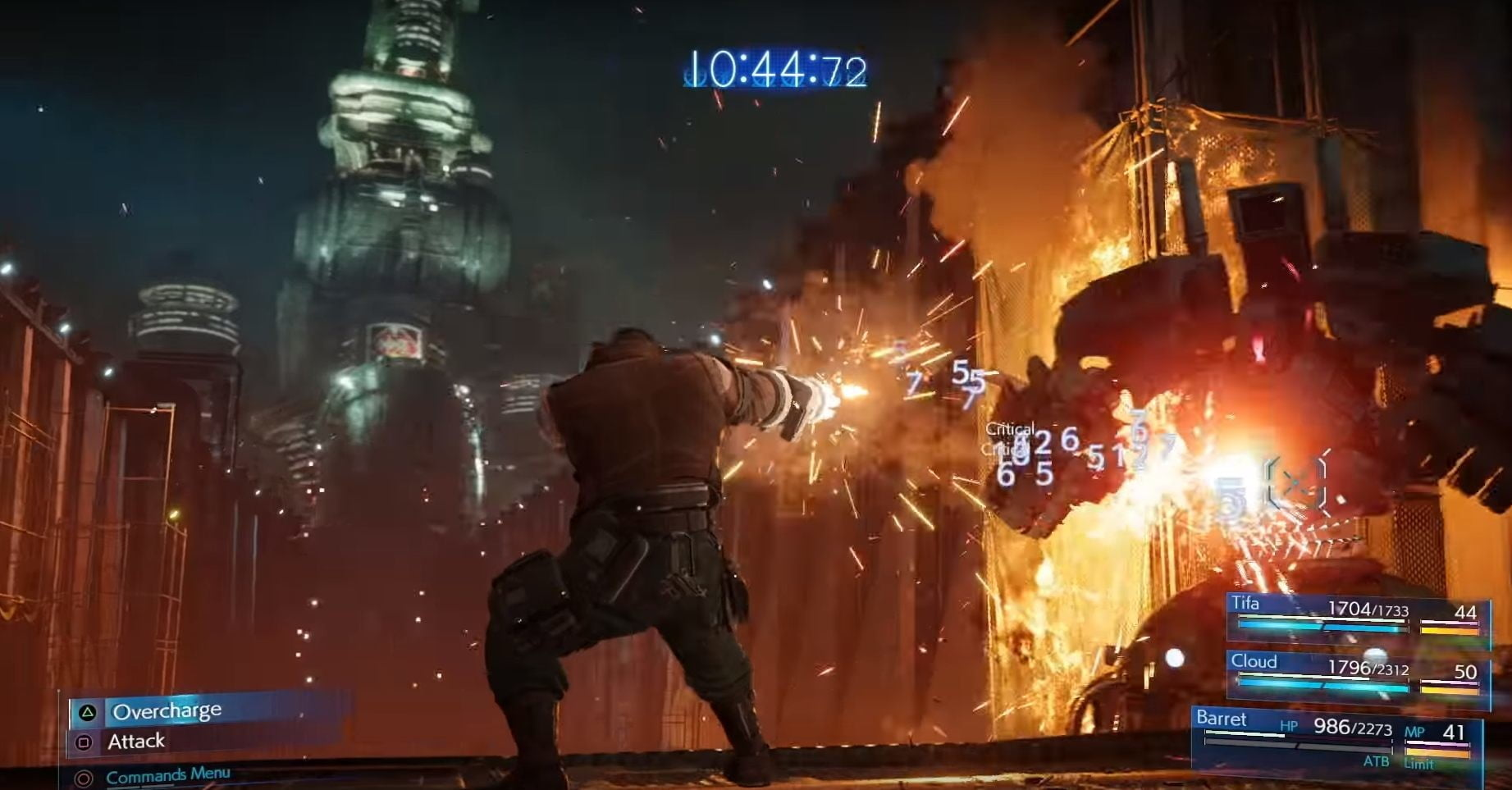 A fan re-created a FF7 Remake battle scene using Dreams and