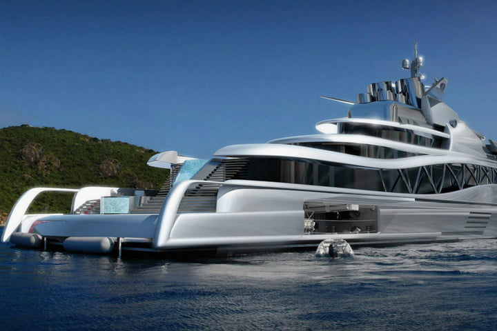 luxury yachts the worlds best super fincantieri fortissimo stern starboard view