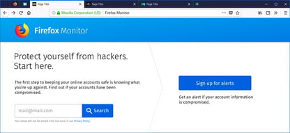 Firefox Monitor Will Alert You If You've Been Hacked