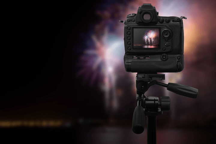 Photograph fireworks by setting up your camera ahead of time