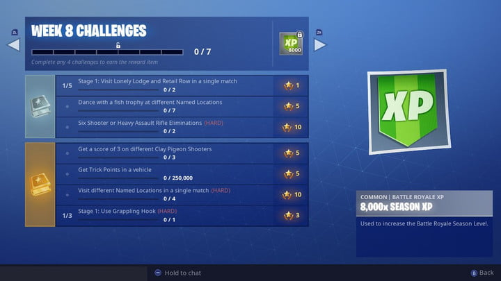 fortnite week 8 challenges: all fish trophy locations