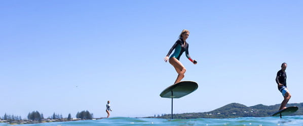 You don't even need waves to ride this electric hydrofoil surfboard