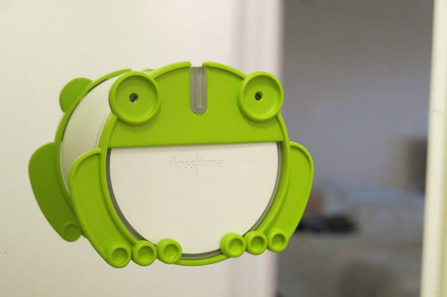 the flosstime reminds when you forget to floss smart device frog