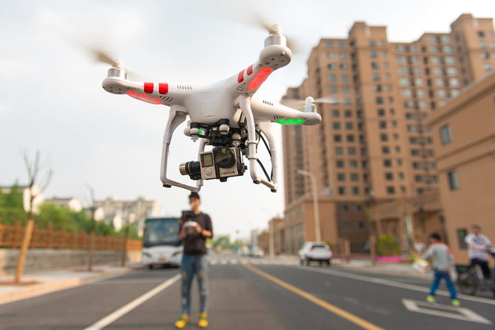Drone pilot arrested after buzzing past an LAPD helicopter