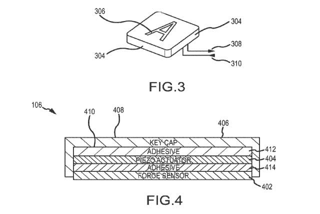 apple files patent for force touch keyboard without key switches forcekeys