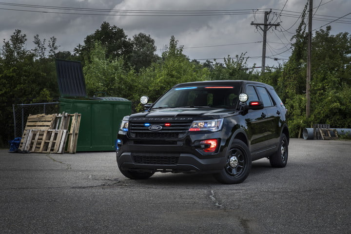 Ford Police Suv Integrated Lights To Launch New Factory No Profile Front Visor Light On Pol Interceptor