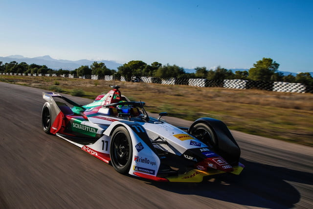 Audi's latest Formula E race car is charged up, ready to vie for the green flag