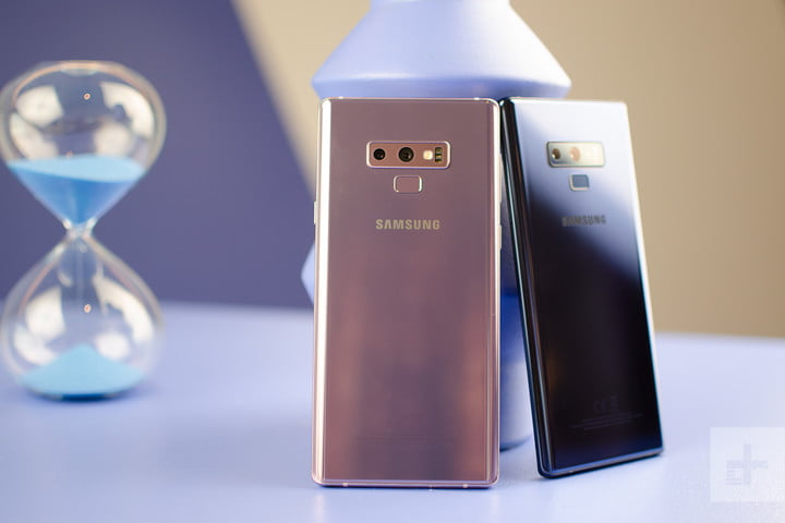Galaxy Note 9 pink and black