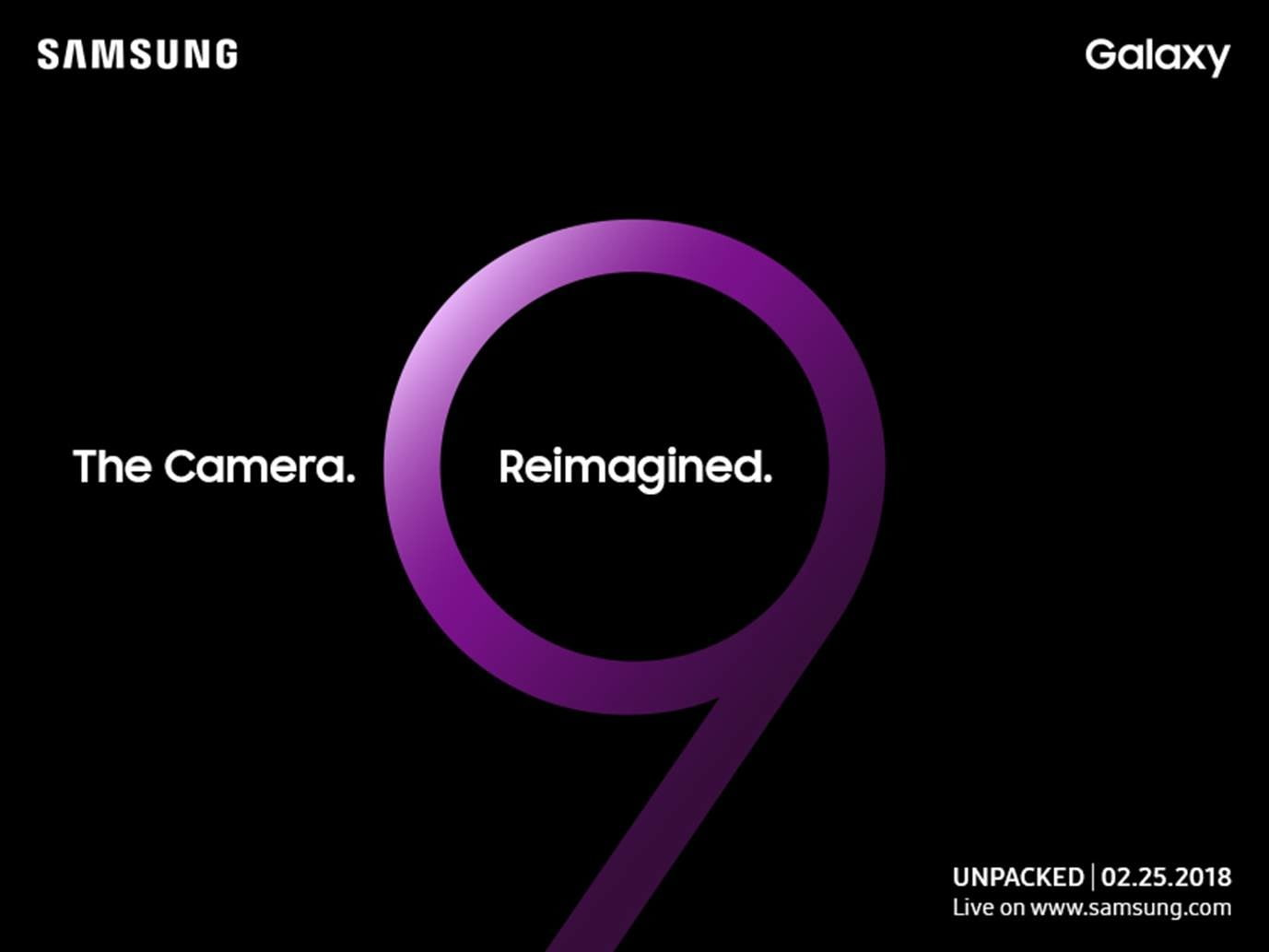 samsung galaxy s9 news invitation