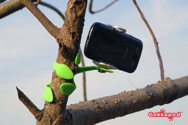 you can mount a camera or phone onto almost anything with the gekkopod 2