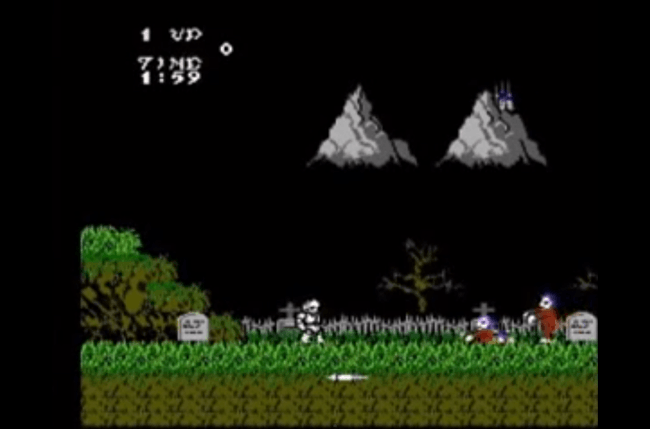best nes games ever ghosts  n goblins screen 2