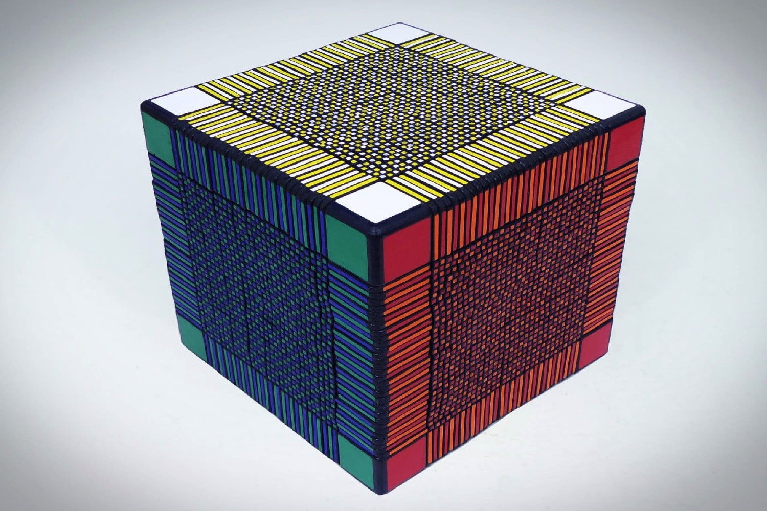 record-breaking rubik's cube will take hundreds of hours to complete
