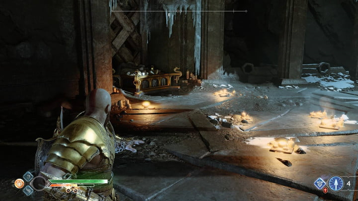 god of war nornir chests collectibles guide 15 inside the mountain - above the claw
