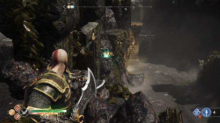 god of war nornir chests collectibles guide 22 cliffs of the raven 2