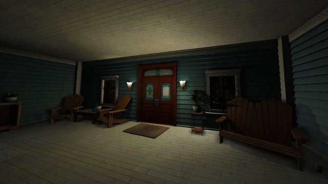 Gone Home game screenshot front porch