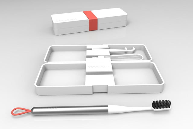 goodwell toothbrush tb 1 with case open and closed 1425