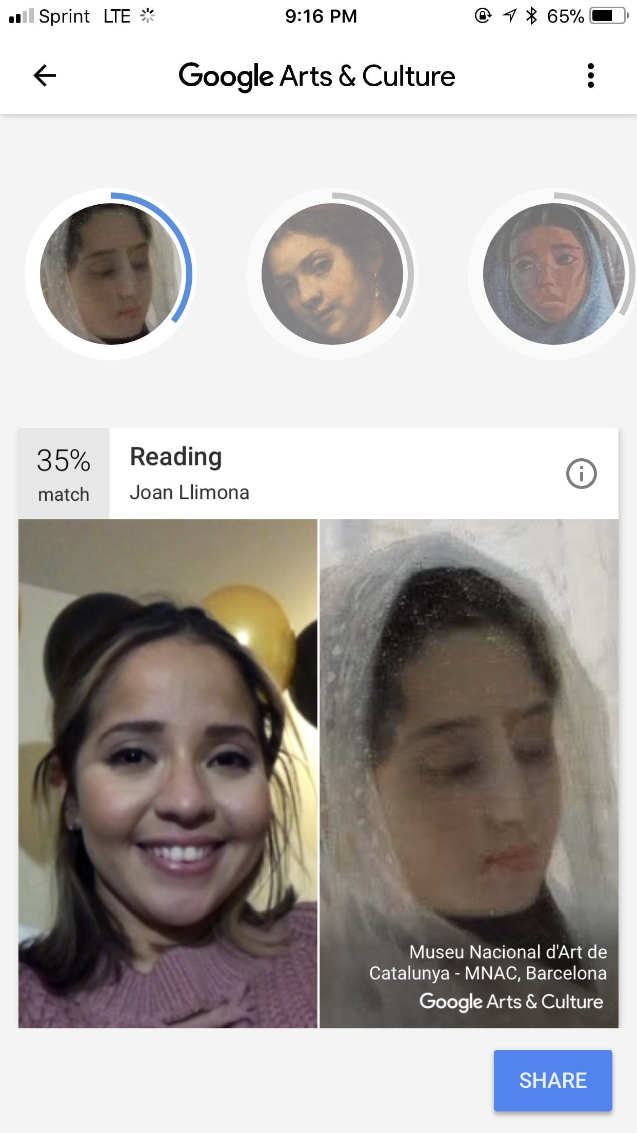 the google arts and culture app matches your selfie with artwork