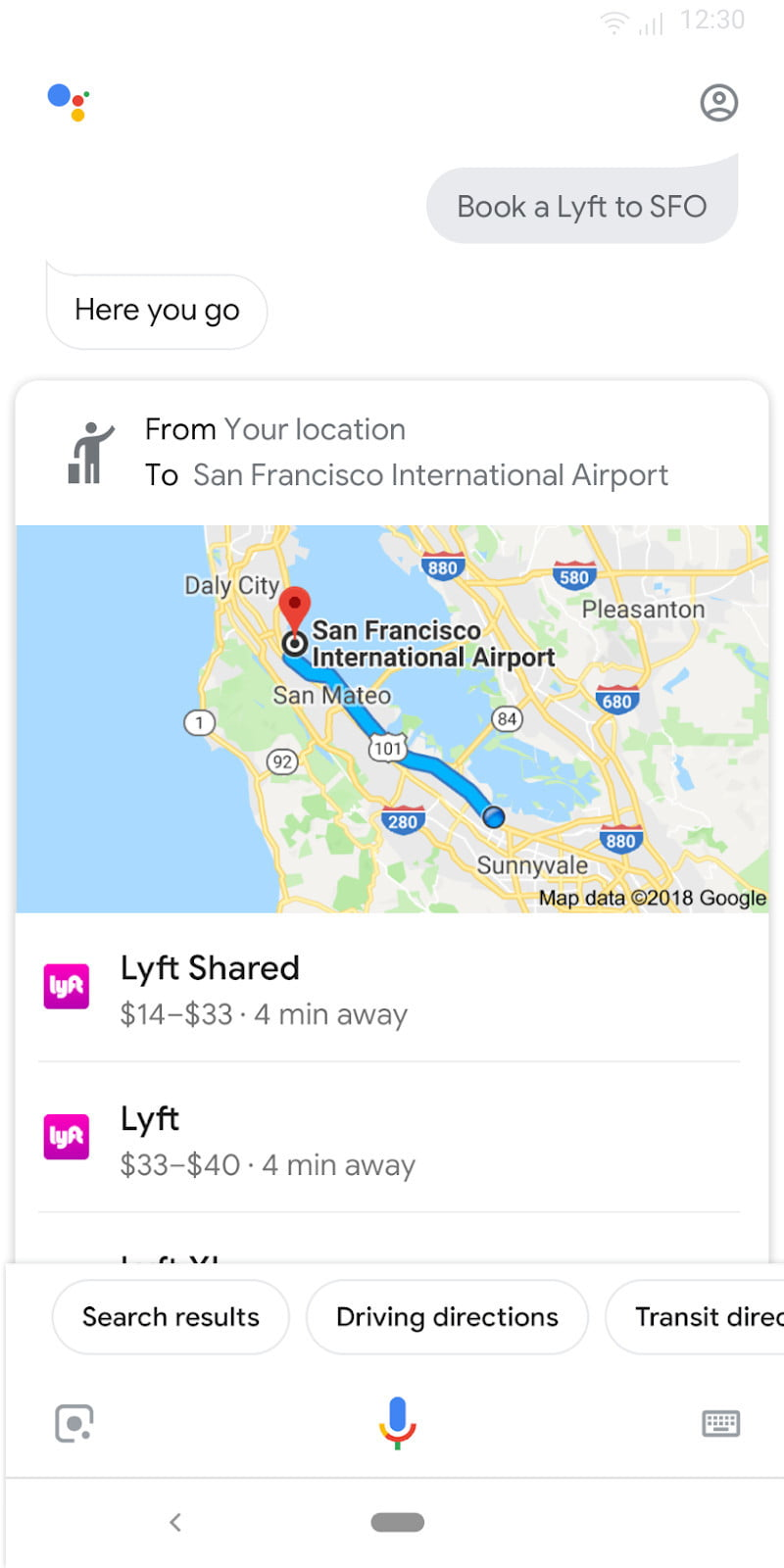 google assistant ride share feature