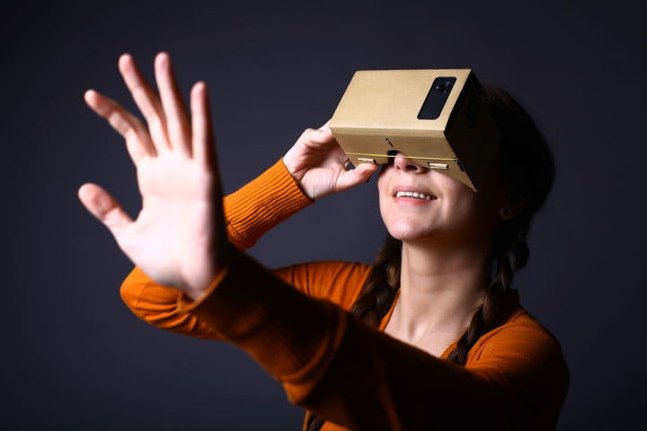 Image result for virtual reality google cardboard