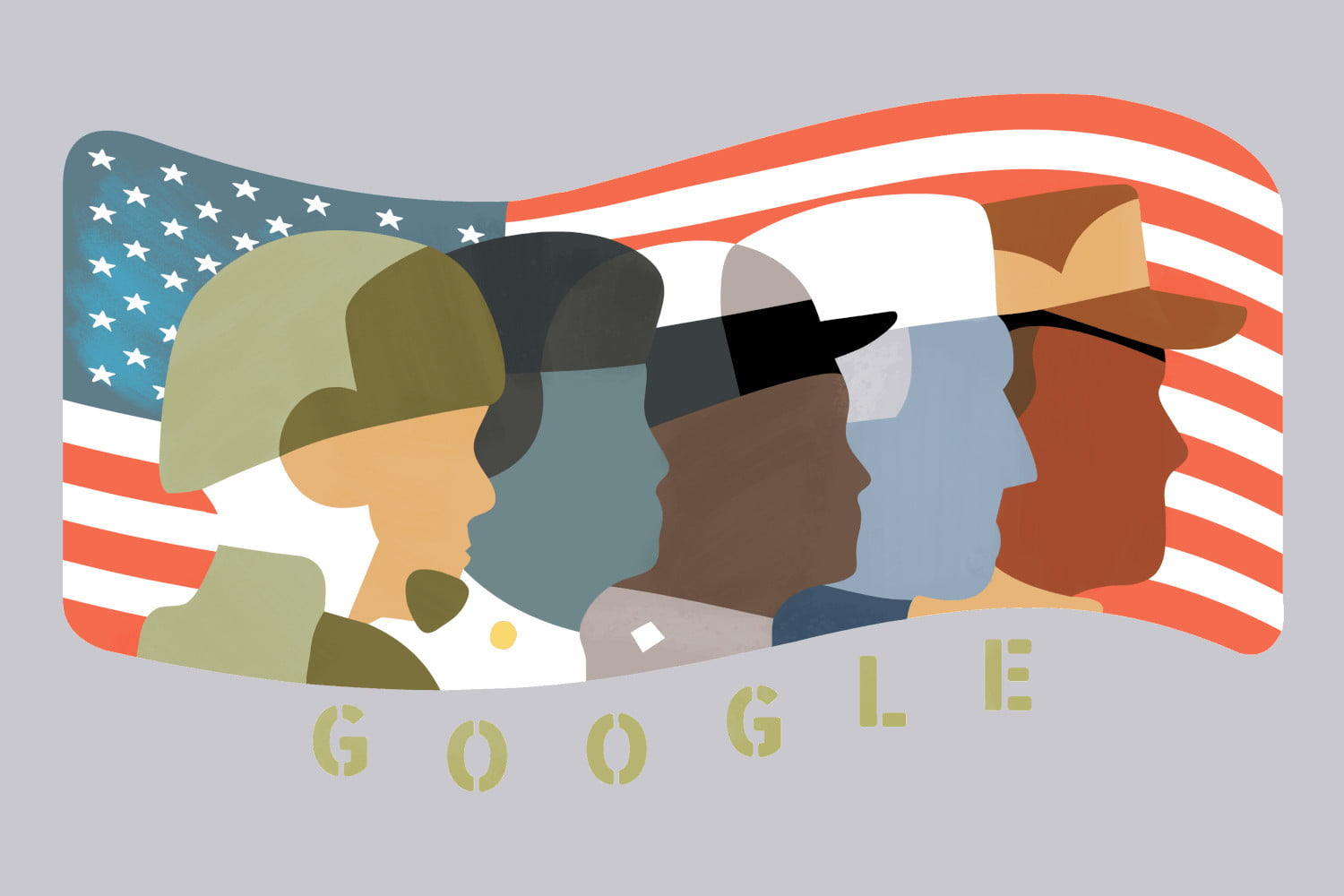google honors veterans day with doodle highlighting veterans