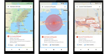 Google Maps Adds Warnings and Navigation for Disasters, Speedometer