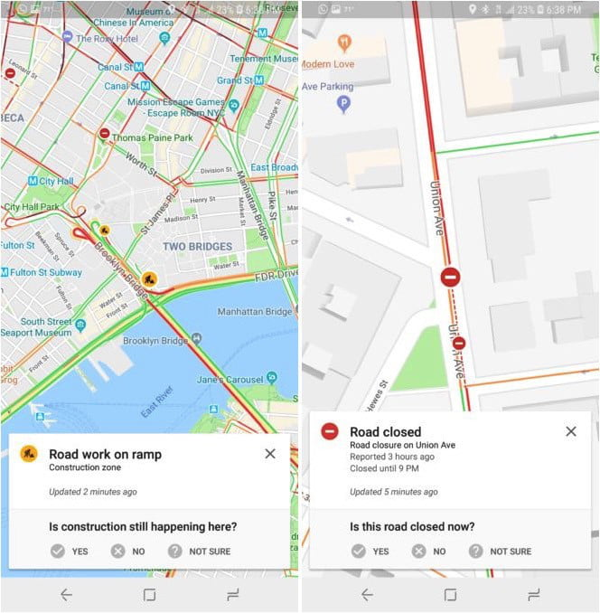 waze google maps incident report integration