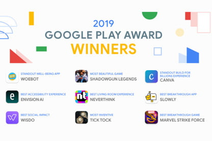 2019 Google Play Awards Honor Self Care Apps and Alien
