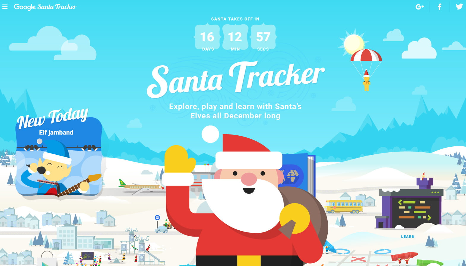 Santa Tracker >> Google S Santa Tracker Offers The Largest Multiplayer Snowball