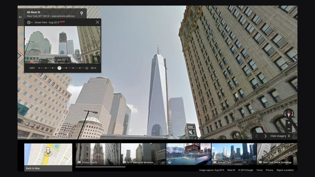 you can time travel using google street view wtc