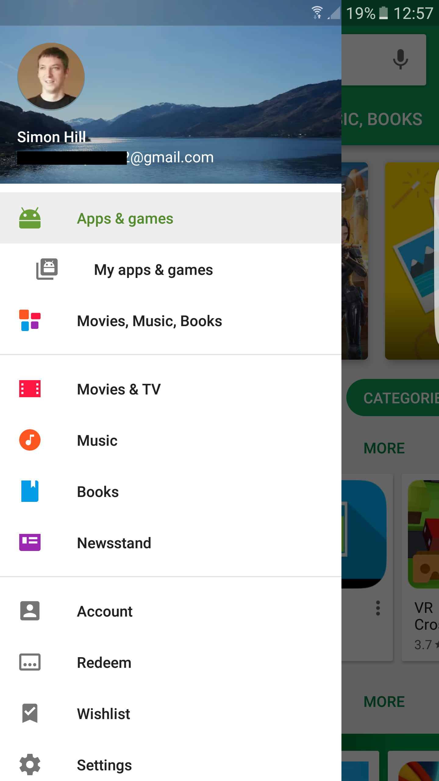 google account play store sign up