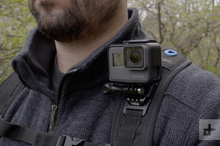 gopro hero 2018 on backpack
