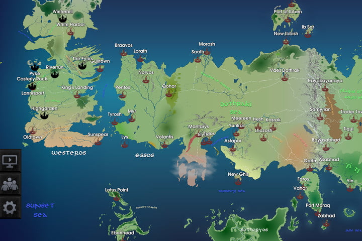 Track your favorite game of thrones character on this interactive game of thrones map mobile app ios android gotmap02 gumiabroncs Images