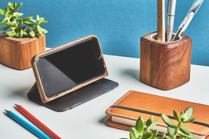 Best iPhone 7 Plus cases - Grovemade Walnut & Leather Wallet Case