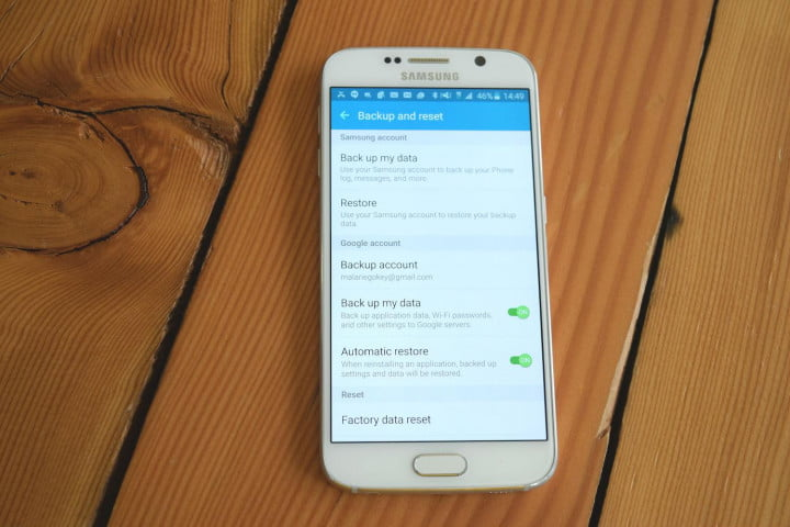 How to factory reset a galaxy s6 or s6 edge smartphone digital factory reset next ccuart Gallery