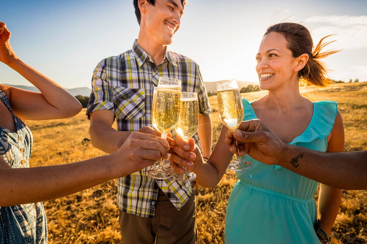 glamping champagne flutes