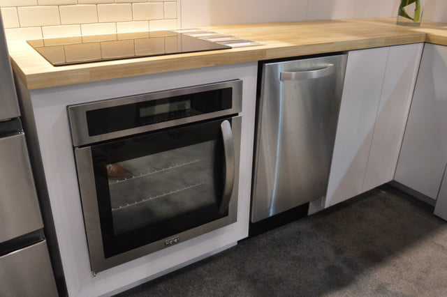 appliance trends kbis 2017 haier 24 inch oven handle on side