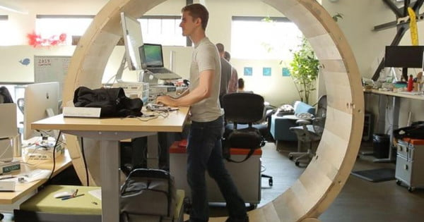 The Hamster Wheel Desk That Lets You Exercise At The