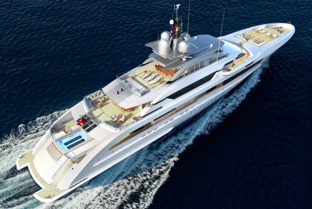 billion dollar superyacht has helipad and concert venue heesen yachts 2  welcome aboard the galactica super nova a huge alumi