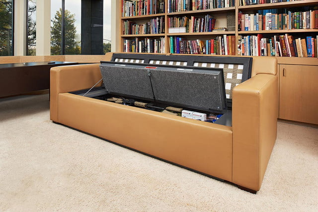 couchbunker bullet resistant sofa gun safe heracles research corporation 004