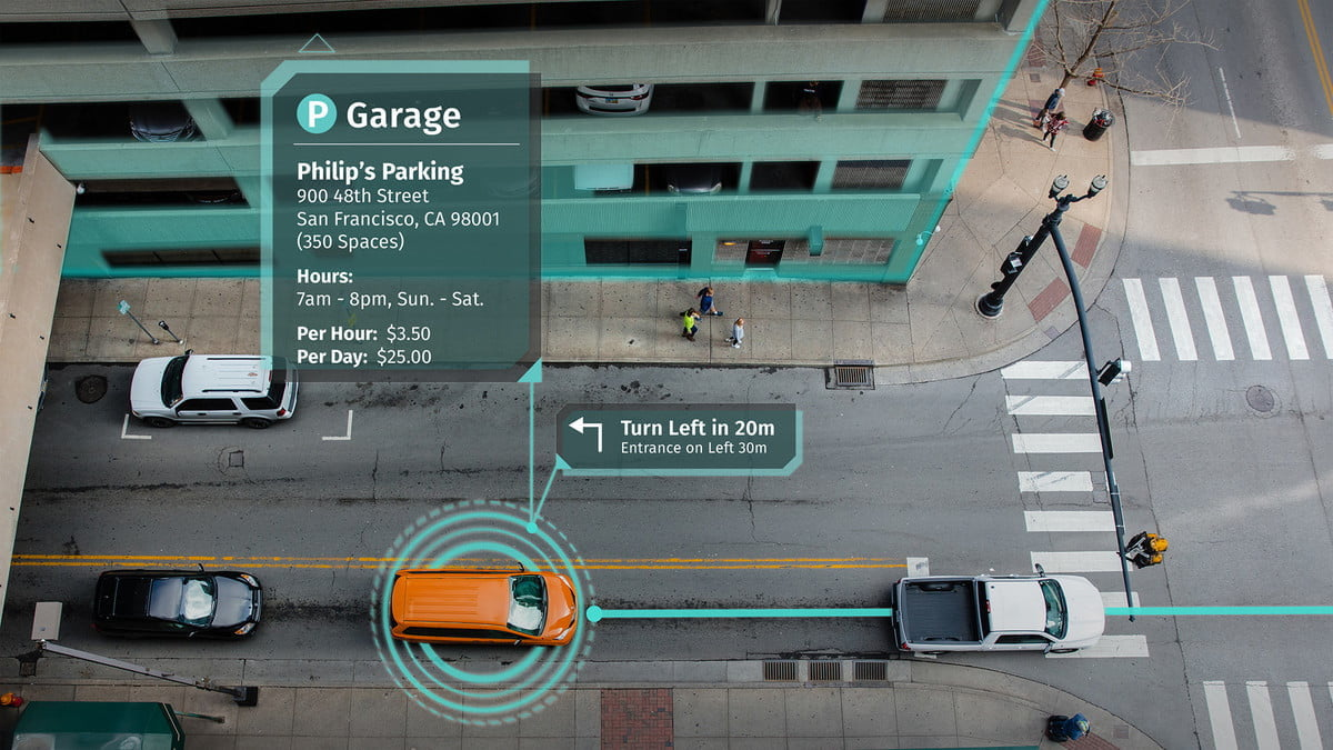 mapping a smart city what3words here technologies parking