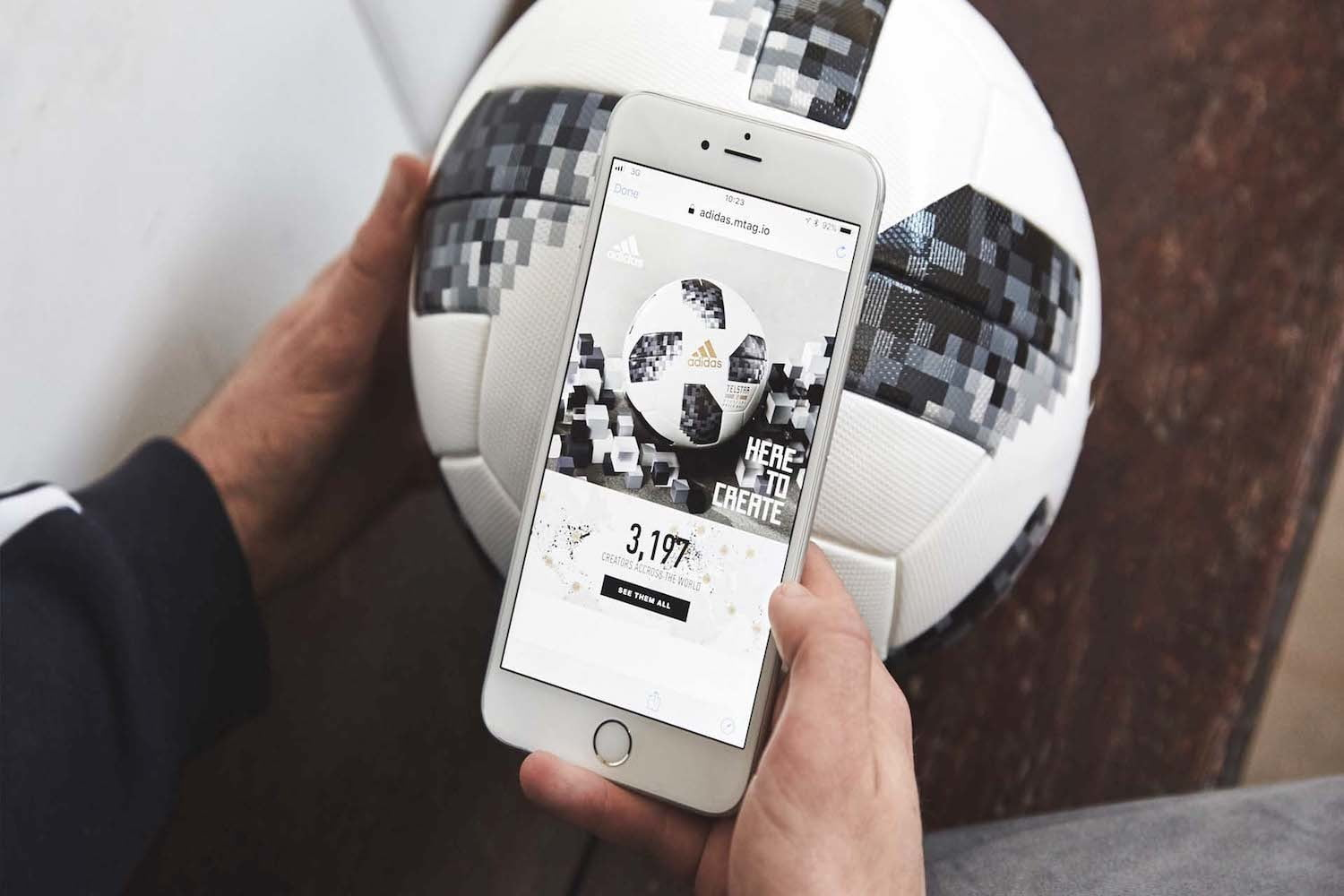 eabedd81e5 Adidas Debuts Its NFC-Equipped Soccer Ball at the World Cup | Digital Trends