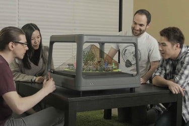 Holus, the interactive tabletop holographic display, is live