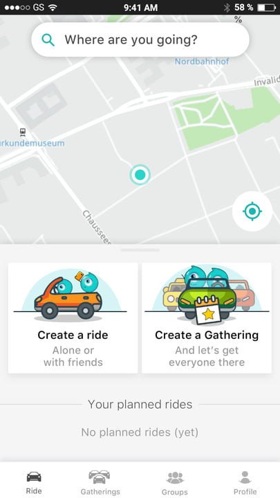 somo app car pooling launched ces 2019 homescreen
