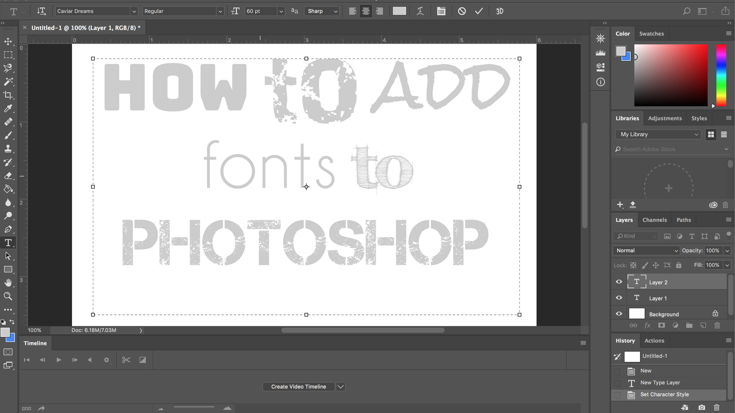 How To Add Fonts To Photoshop, From Typekit to Font Downloads