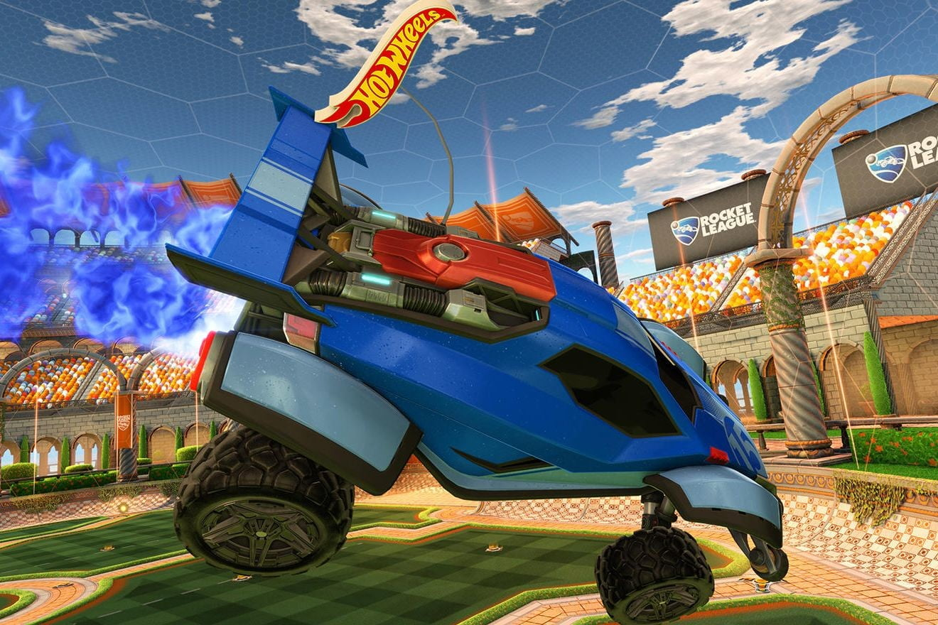 Hot Wheels and 'Rocket League' Tabletop Soccer Game Uses RC