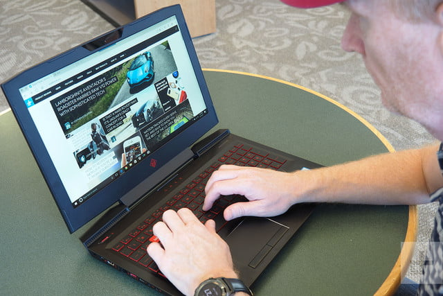 HP Omen 15 review typing