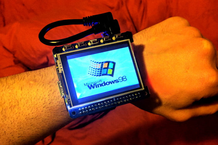 Check out Windows 98 running on a smart 'watch' powered by Raspberry Pi