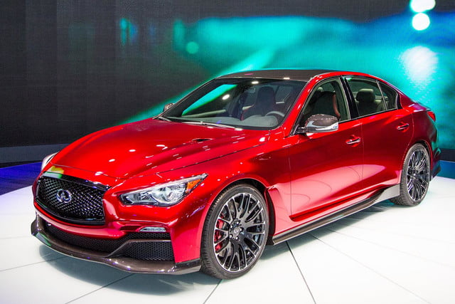Infiniti Q50 Eau Rouge front angle right