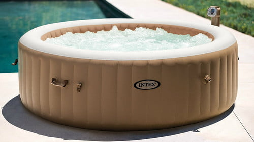 this portable hot tub is 160 off on amazon right now inflatable