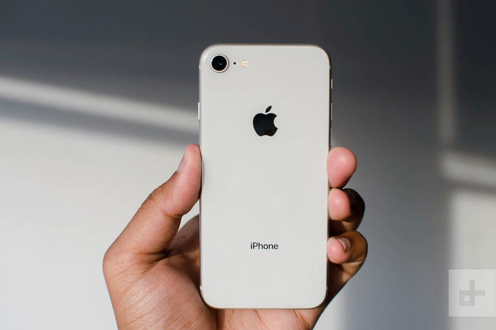 Apple iPhone 8 review in hand logo